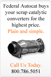 We buy scrap catalytic converters